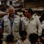 Picture 6 - General Schwarzkopf and Dan Rather in Vietnam