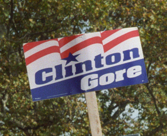 Clinton-Gore poster for the 1992 election.