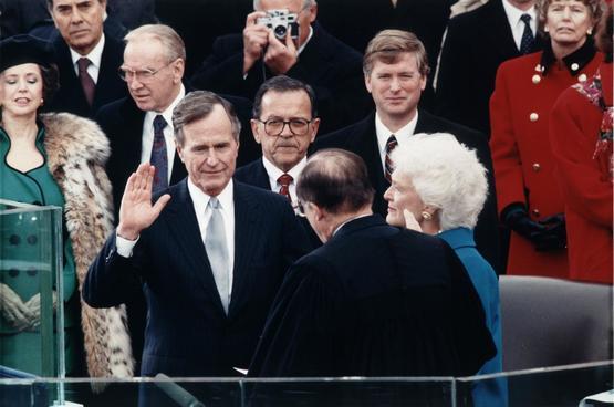 George H. W. Bush inauguration, January 20. 1989.