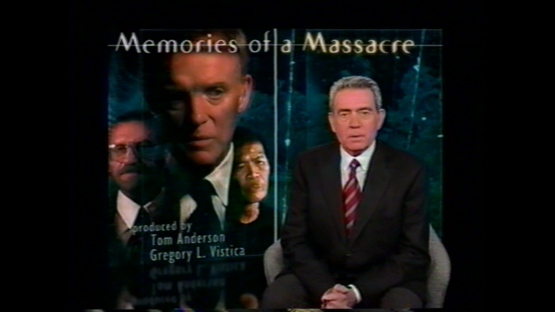 "Still Image - Title shot of CBS's ""Memories of a Massacre"""
