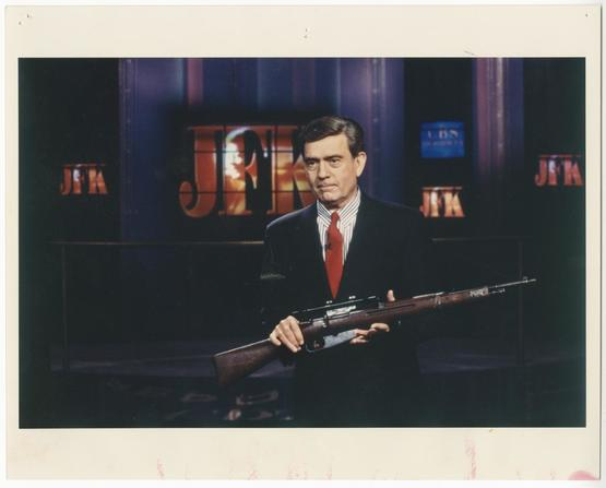 "Picture - Dan Rather on the set of ""Who Killed JFK?"""