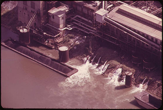 "Picture - ""Effluent Pours from the South Charleston Union Carbide Plant"""